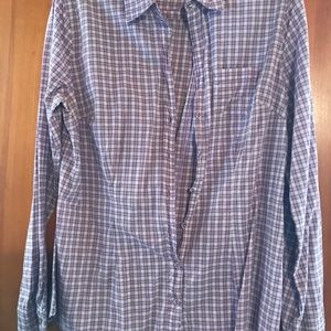 Plaid converse button up shirt